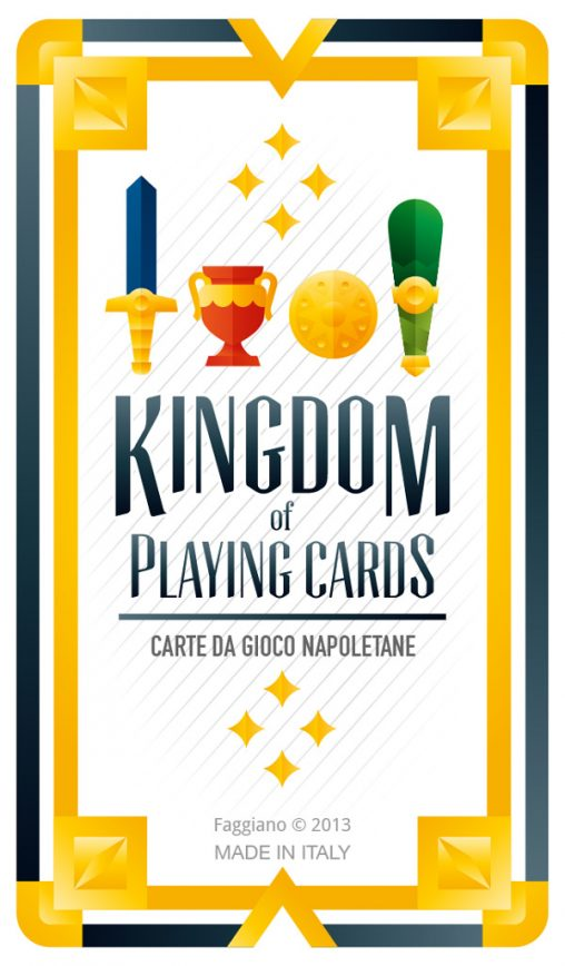 Deck cover of Kingdom of playing cards set, illustration by Francesco Faggiano illustrator