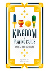 Small version of deck cover of Kingdom of playing cards set, illustration by Francesco Faggiano illustrator