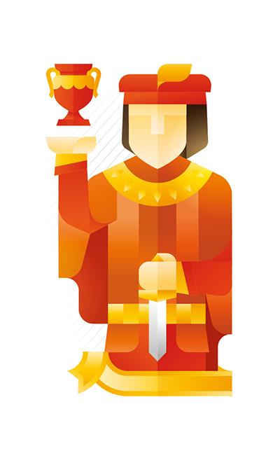 red jack holding a trophy, illustration by Francesco Faggiano illustrator
