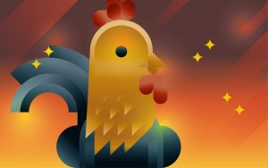 Rooster character, illustration by Francesco Faggiano illustrator