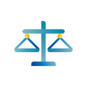 Balance blue icon illustration, illustration by Francesco Faggiano illustrator
