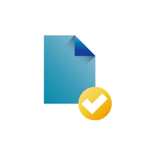 Approved document icon illustration, illustration by Francesco Faggiano illustrator