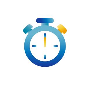 Blue chronometer icon illustration, illustration by Francesco Faggiano illustrator
