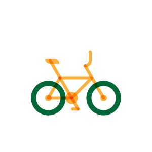 Bmx bike model flat icon, illustration by francesco faggiano illustrator