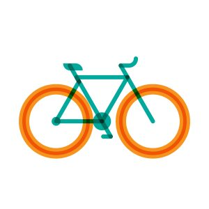 Fixed bike model flat icon, illustration by francesco faggiano illustrator