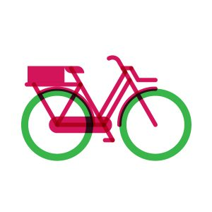 Freight-bike model flat icon, illustration by francesco faggiano illustrator