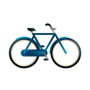 Man city-bike model, illustration by francesco faggiano illustrator