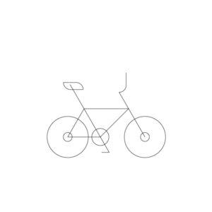 Bmx bike model outline icon, illustration by francesco faggiano illustrator