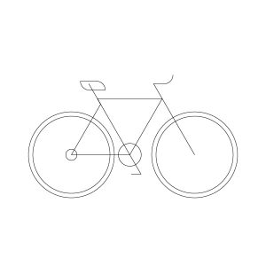 Fixed bike model outline icon, illustration by francesco faggiano illustrator