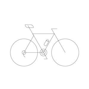 Road bike model outline icon, illustration by francesco faggiano illustrator