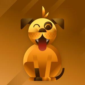 Dog character, illustration by Francesco Faggiano illustrator
