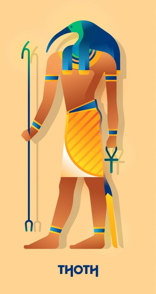 Picture of Egyptian God Thoth, god of magic, language and writing.